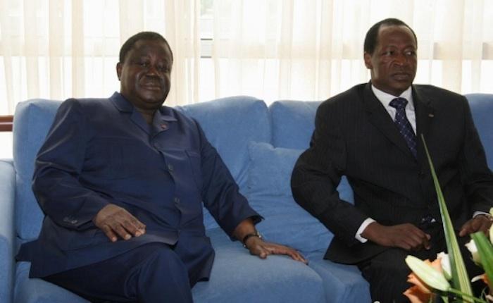 Rencontre privée entre Henri Konan Bédié et Blaise Compaoré
